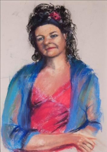 The patient sitter in the portrait class